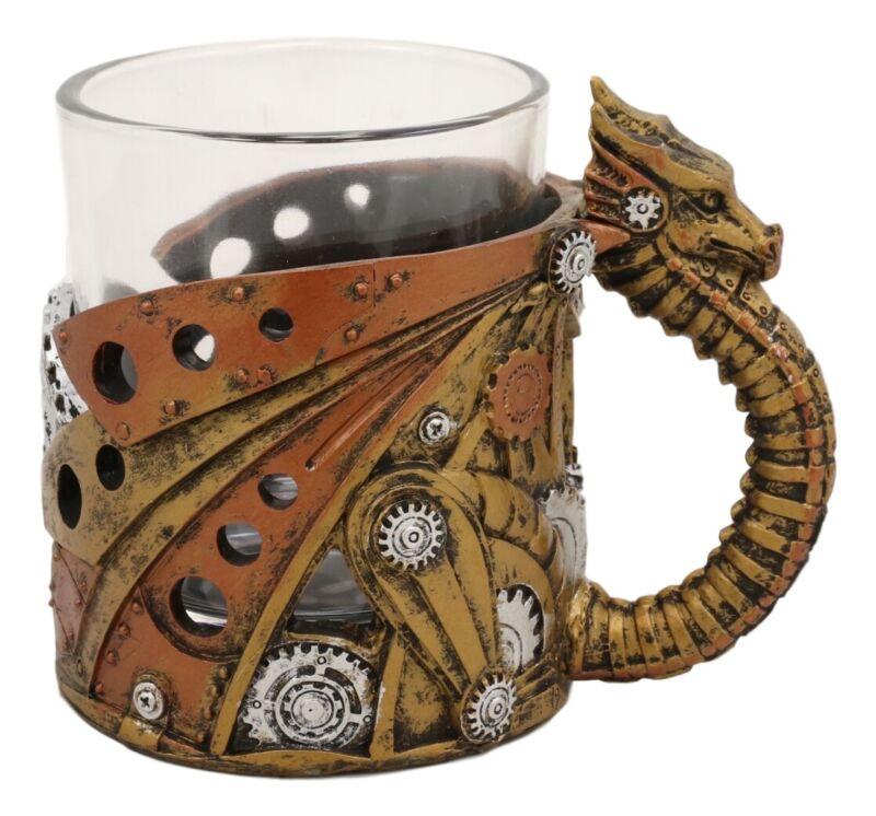Steampunk Surfer Robotic Dragon Small Coffee Mug Tankard Or Large Shot Glass 7oz