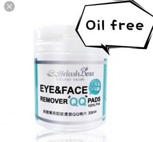 Make Up Remover Pads for Eyelash Extensions Oil Free