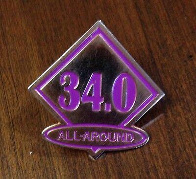 Gymnastics Gymnast AA All Around 34 Achievement Collectors Pin NEW
