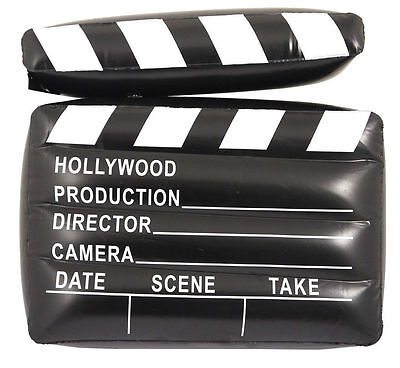 INFLATABLE CLAPPER BOARD 43 CM MOVIE DIRECTOR HOLLYWOOD PROP PARTY](Inflatable Clappers)