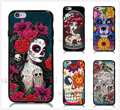 Sugar Skull Girl Tattoo Phone Case For iPhone iPod Samsung Galaxy S Note Cover (Sugarskull Girl)