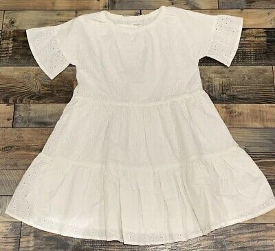 NWT GIRLS GYMBOREE WHITE EYELET PATTERN TIERED Easter DRESS SIZE M 7 8 - Girls Easter Dresses Size 8