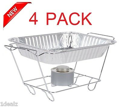 4 PACK Buffet Chafer Food Warmer Wire Frame Stand Rack half Size Chafing Dish (Chafing Rack)