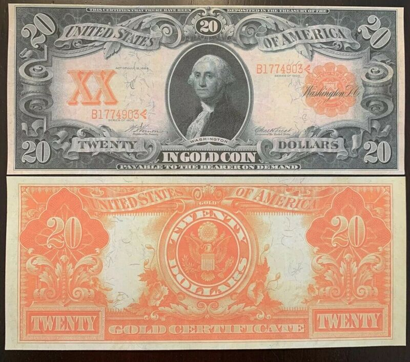 Copy Reproduction Fantasy 1907 $1000 Gold US Currency Note