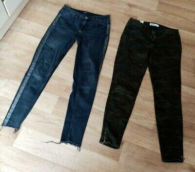 2 Zara jeans size EU 38 UK 10 ankle length low waist fair conditions