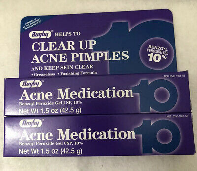 ACNE Benzoyl Peroxide GEL 10% 1.5oz Rugby purple 2pack Exp01/2021
