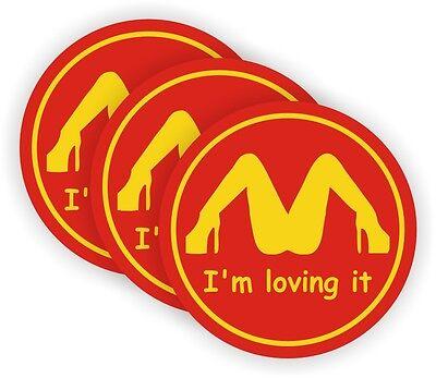 3 Im Loving It Hard Hat Decals Motorcycle Welding Helmet Stickers Funny Labels