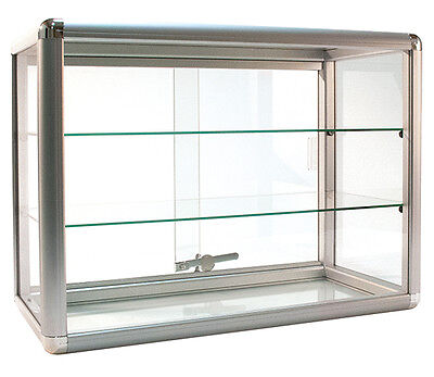 Countertop Glass Showcase Retail Store Merchandise Display 24wx12dx18h New