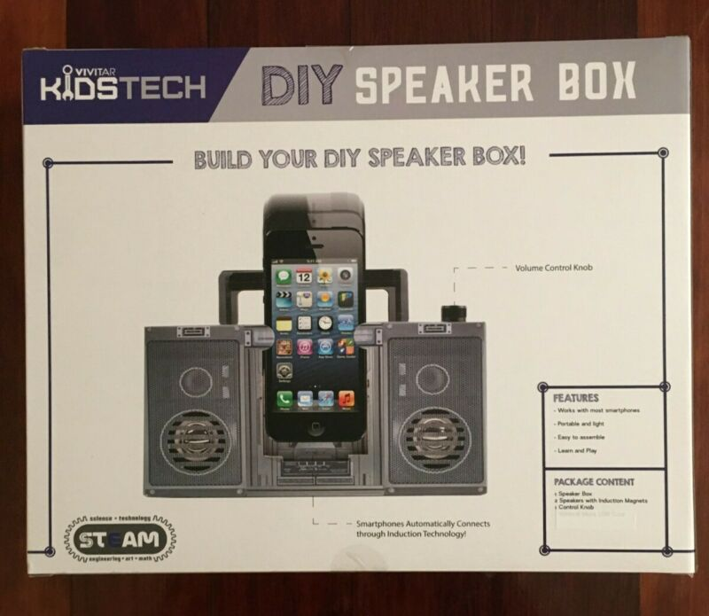 Vivitar Kids Tech Lightweight/Portable DIY/Building Speaker Box for Smartphones
