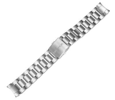 Nautica Mens N14545G   A14545G BFD 101 Diver 20mm Stainless Steel Watch Bracelet Nautica Mens Bracelets