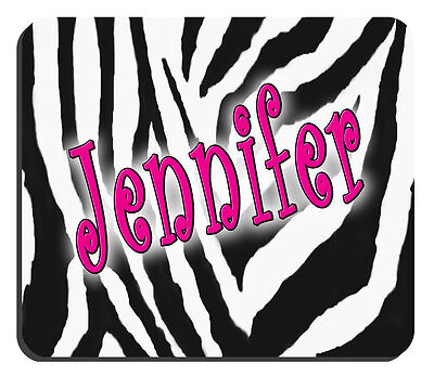 Zebra Mouse Pad Personalize Any Text Any Color 14 Thick 7-34 X 9-14 Zebra