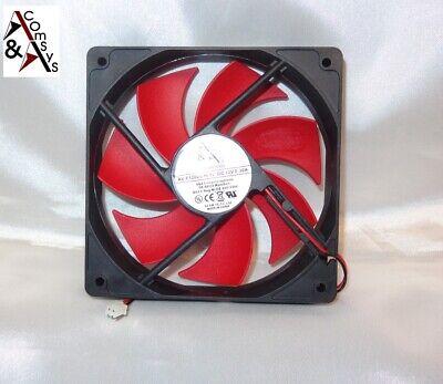 PC Netzteil Lüfter 12cm Fan 120x120x25mm DC 12V sehr leise Kühler 120mm Black/Ro
