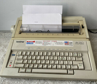 Brother Electric Typewriter Ax-250 Script Daisy Wheel 5600 Word Dictionary