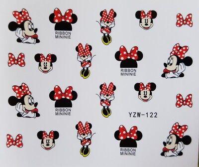 Nagelsticker Nagel Tattoos Maus Mouse Cartoon Comic Minnie Nail Design Sticker ()