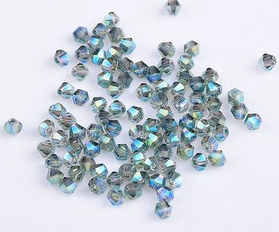 Wholesale 3mm4mm6mm8mm Bicone Faceted 5301 Crystal Glass Loose Spacer Beads