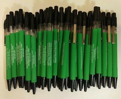 36 Piece Lot Misprint Rubber Grip Green Barrel Allure Retractable Click Pens