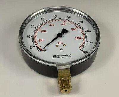Enerpac 4010l4 Gauge 4 0-100 Psi Range 14 Npt