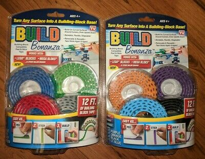 BUILD BONANZA LEGO Tape Works with LEGO Mega Bloks 2 Packs