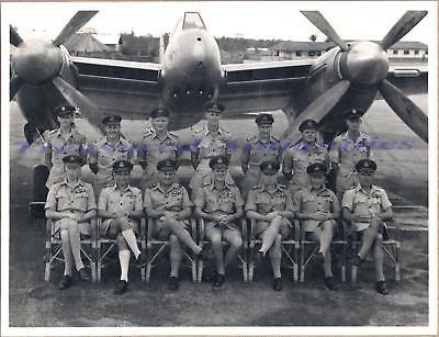 Korean War British RAF Squad 45 de Havilland dh103 Hornet Fighter Airplane Photo