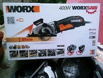 Sierra Circular Worx WX426 Circular saw, 400 W, Negro (Como nueva)