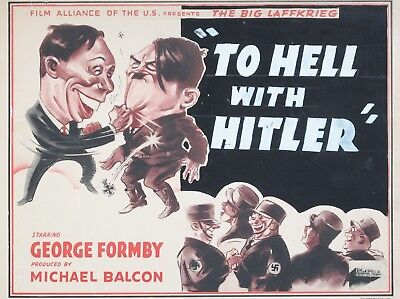 "To Hell with Hitler GEORGE FORMBY 16"" x 12"" Reproduction Movie Poster Photo"
