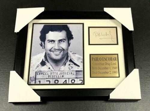 PABLO ESCOBAR Autographed Cut Signature Facsimile Framed 8x10 Photo