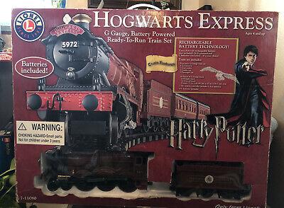 2012 Lionel Harry Potter Hogwarts Express G-Gauge Train Set 7-11080
