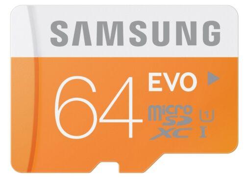 Samsung EVO 64GB micro SD SDXC Speicherkarte Class 10 UHS-1 Bulk Aug