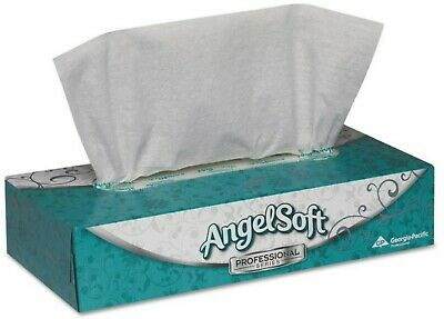 - Angel Soft Facial Tissue Professional Series White 735 X 845 Inch, 100 ea