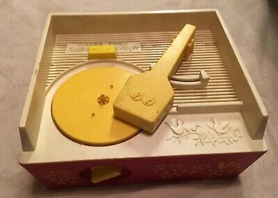 Vintage Fisher Price Toy Music Box Record Player - NO Records Included