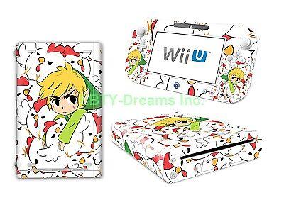 - Zelda Link Triforce* Video Game Vinyl Skin Sticker Decal Protector for Wii U