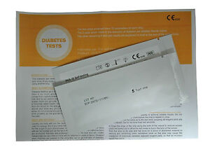 Diabetes Glucose Ketone 10 x Urine Home Test Kits (5 Strips Per Foil)