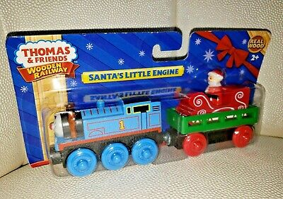 Thomas and Friends Wooden Railway Santa's Little Engine Fisher-Price NEW