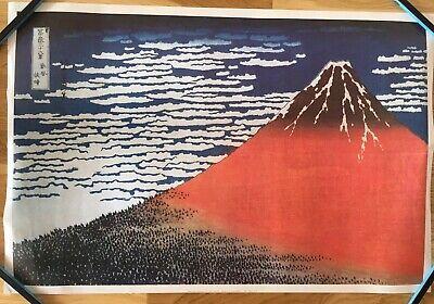 【VeryRare】Thirty-six Views of Mount Fuji/Red Fuji/Hokusai Ukiyoe Original (Thirty Six Views Of Mount Fuji Prints)