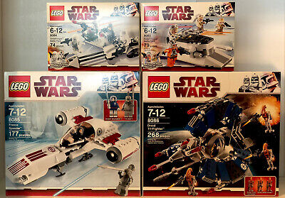 Lego Star Wars 4 Lot Set 8083, 8084, 8085, 8086 New & Sealed Retired