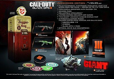 Call Of Duty: Black Ops 3 III - Juggernog Issue [PlayStation 4 PS4, Collector]