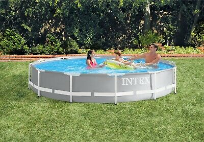 INTEX Prism Frame Pool Ø 366 x 76 Gartenpool Swimming Pool Familienpool 26710
