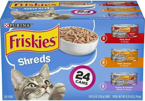 Purina Friskies Gravy Wet Cat Food Variety Pack, Shreds Beef, Chicken and Turkey