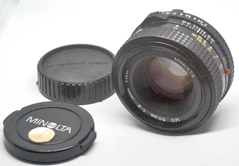 PRIME LENS For SLR Camera With Minolta MD Mount MINOLTA 2.0-50 VG PHL0023  - $30.00