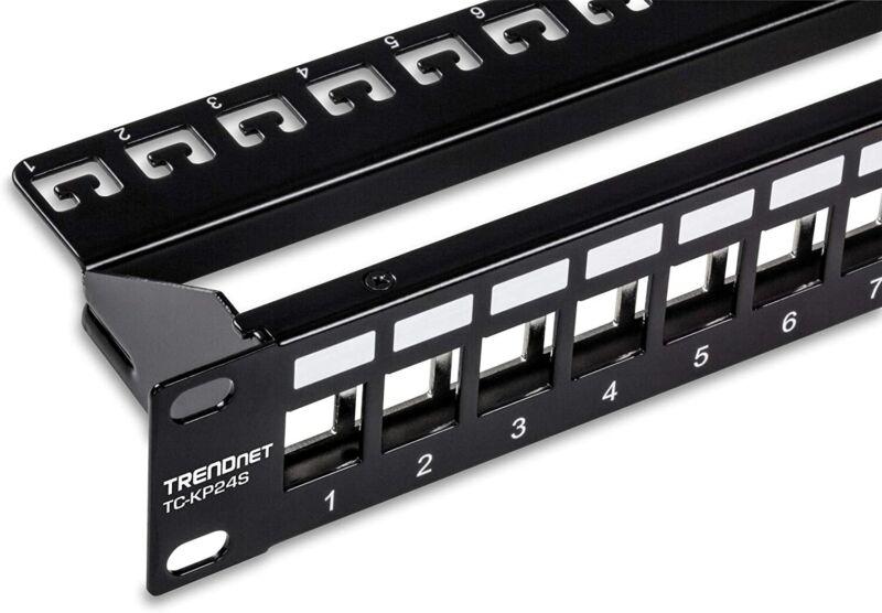TRENDnet TC-KP24S, 24-Port Blank Keystone Shielded 1U Patch Panel