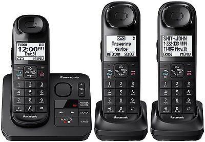 Panasonic KX-TGL433B DECT 6.0 Digital Cordless Phone System w/ Answering Machine for sale  Shipping to Nigeria