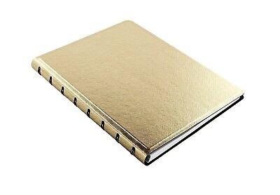 Filofax A5 Refillable Notebook Saffiano Metallic Gold 115036