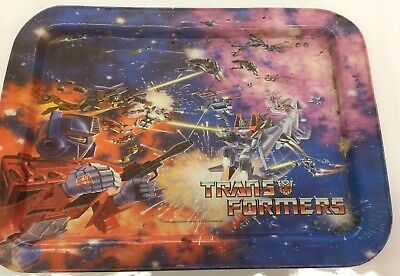 Hasbro 1984 Transformers Optimus Prime Metal Folding TV Dinner Lap rare