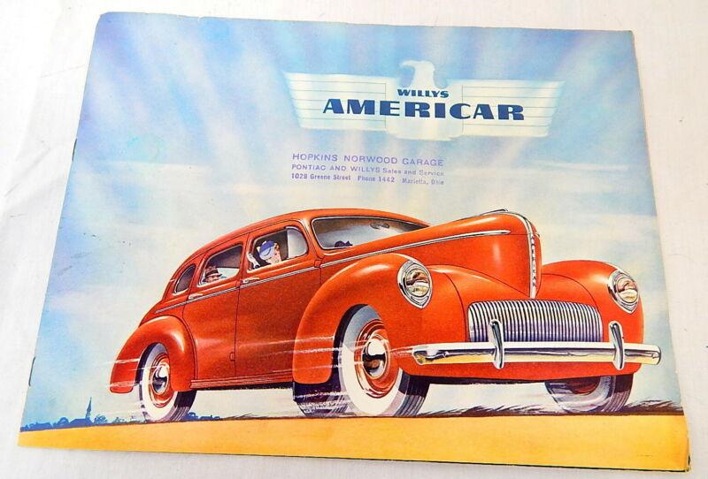 1D 1941 Willys Americar Automobile Brochure Dealership Garage