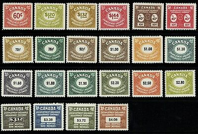 Canada 22 Unemployment Rev Stamps Mnh   Many Better Inc 1968  3 12   S1755