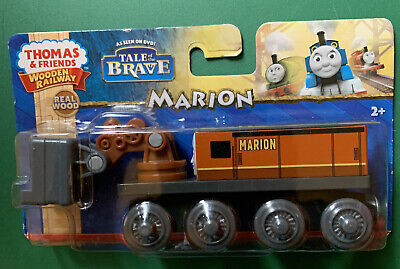 THOMAS & FRIENDS WOODEN RAILWAY ~ MARION ~ RARE RETIRED ~ TALE OF THE BRAVE!