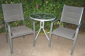 Glass Table & 2 Chairs/ Small Outdoor Setting Greenwith Tea Tree Gully Area Preview