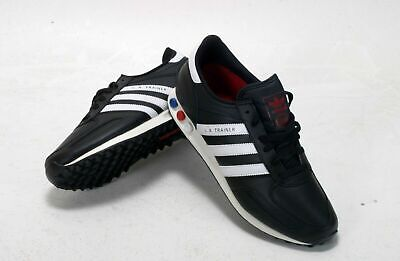 ADIDAS LA TRAINERS V22816 BLACK/WHITE UK 12 EU 471/3 BNIB LEATHER