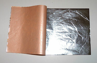 """Pure 999 Silver Leaf Sheets 50 Leaves - 3.75"""" x 3.75"""" Gilding, Art Work, Edible"""