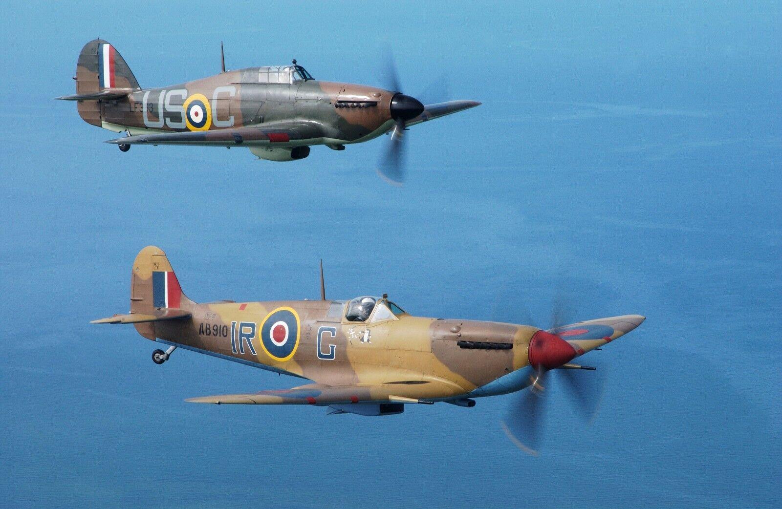 X9U Spitfire /& Hurricane Battle of Britain Anniversary Photo Memorabilia